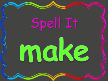Read, Spell, Write Kindergarten High Frequency Words Unit 5