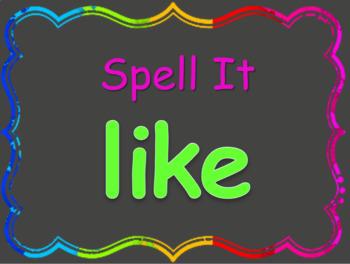 Read, Spell, Write Kindergarten Journeys High Frequency Words Units 1-3