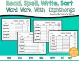 Diphthong Word Sort Worksheets