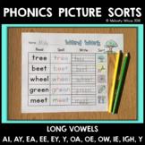 Vowel Team Word Sorts With Long A, E, I, O, U
