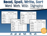 Word Sorts with Digraphs  ch sh th ph wh