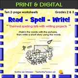 Read-Spell-Write! - Themed Spelling Lists & Writing Projects - Grades 2-3 - CCS