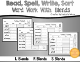 Word Sorts L S and R Blends