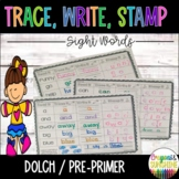 Read, Stamp,Trace, Write Sight Words {Dolch Pre-Primer}, Stamp it Sight Words