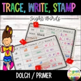 Read, Stamp,Trace, Write Sight Words {Dolch Primer}, Stamp it Sight Words