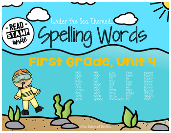 Read, Stamp, Write 1st Grade Spelling Words, Unit 4