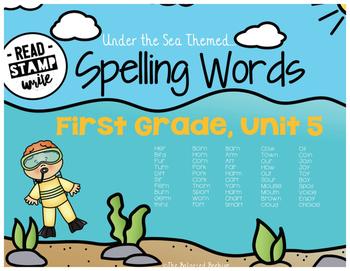 Read, Stamp, Write 1st Grade Spelling Words, Unit 5