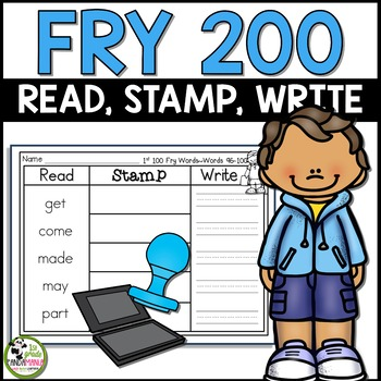 Read, Stamp, Write Fry Words Centers for First 200 Fry Sight Words!