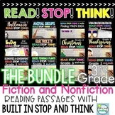 Reading Comprehension Passages and Questions 3rd Grade Bundle ~ Text Evidence