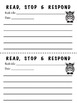 Read Stop and Respond: printable response paper!
