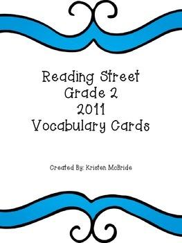 Read Street Vocabulary Cards - Editable