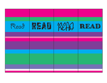 Read Striped Bookmarks