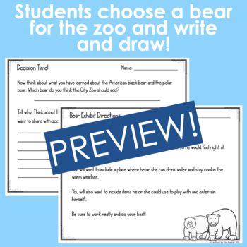 Read, Take Notes, Decide, Design, and Write... Which bear for the City Zoo?