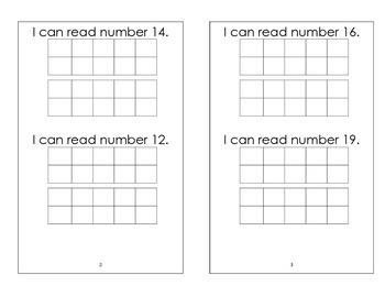 """Read Teen Numbers """"booklet"""""""