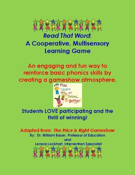 Read That Word:  A Cooperative, Multisensory Learning Game