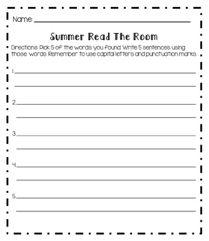 Read The Room [Back To School] Small Activity