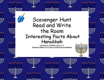 Interesting Facts About Hanukkah-Read The Room-Scavenger H