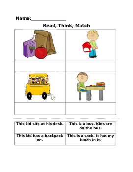 Read, Think, Match