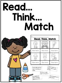 Read, Think, Match Printables