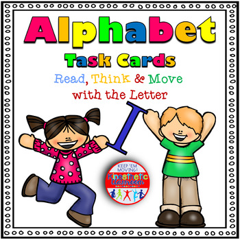 Alphabet Activities - Letter Sounds - Read, Think & Move Task Cards - I