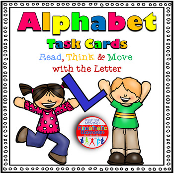 Alphabet Activities - Letter Sounds - Read, Think & Move Task Cards - L