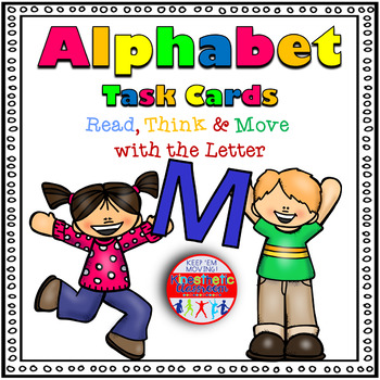 Alphabet Activities Letter Sound Task Cards the Letter M