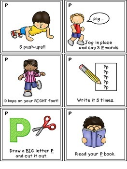 Alphabet Activities Letter Sound Task Cards the Letter P