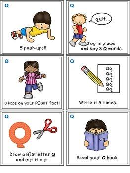 Alphabet Activities Letter Sound Task Cards the Letter Q
