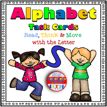 Alphabet Activities - Letter Sounds - Read, Think & Move Task Cards - S