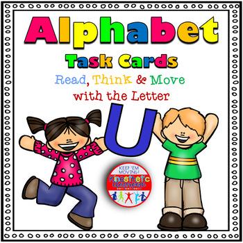 Alphabet Activities Letter Sound Task Cards the Letter U