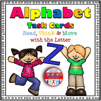 Alphabet Activities Letter Sound Task Cards the Letter Z