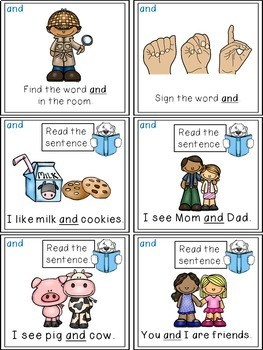 Sight Word Activities - Read, Think & Move Task Cards - AND