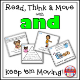 Sight Word Activities - Read Think and Move Task Cards for the Sight Word AND