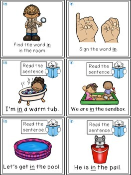 Sight Word Activities - Read, Think & Move Task Cards - IN
