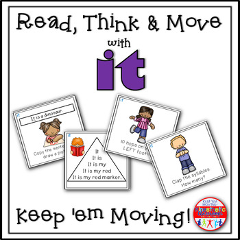 Sight Word Activities - Read, Think & Move Task Cards - IT