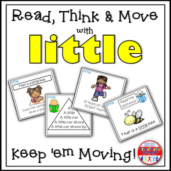 Sight Word Activities - Read, Think & Move Task Cards - LITTLE