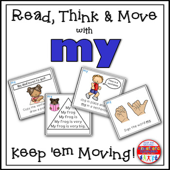 Sight Word Activities - Read, Think & Move Task Cards - MY