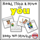 Sight Word Activities - Read Think and Move Task Cards for the Sight Word YOU