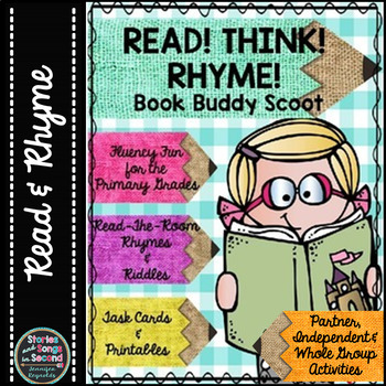 Read! Think! Rhyme! Book Buddy Poem Booklet & Scoot Activity