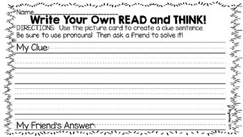 Read! Think! Solve! Write--Freebie