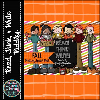 Read! Think! Write!  Fall Riddles--Parts of Speech Practice Pack