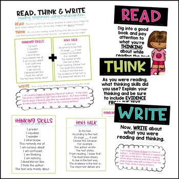 Read, Think & Write {Reading Responses using Metacognition}