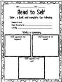 Read To Self Graphic Organizer