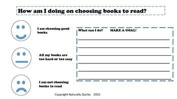Read To Self STAMINA goal setting