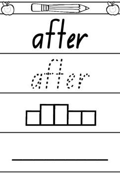 PREVIEW Read / Trace / Box / Write - 100 High Frequency Sight Words.