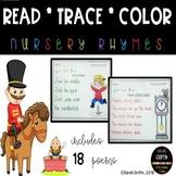 Read Trace Color ~ Nursery Rhyme Printables