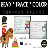 Read Trace Color ~ Poetry Worksheets