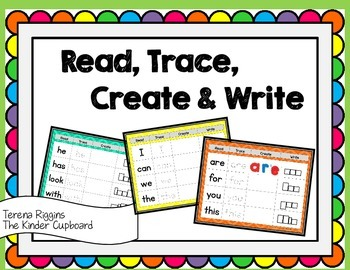 Read, Trace, Create & Write { Sight Words}