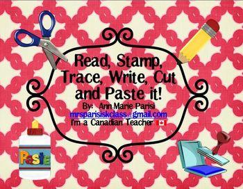 Read Trace Stamp Write Cut and Paste it, Part 2:  Sentences