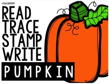 Read, Trace, Stamp, Write PUMPKIN